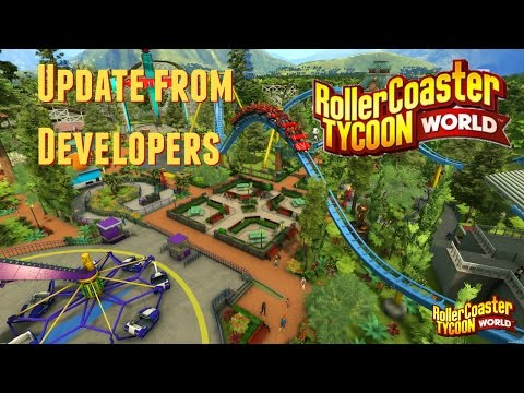 Vlog  [2.19.16] - Update from RollerCoaster Tycoon World Developers!