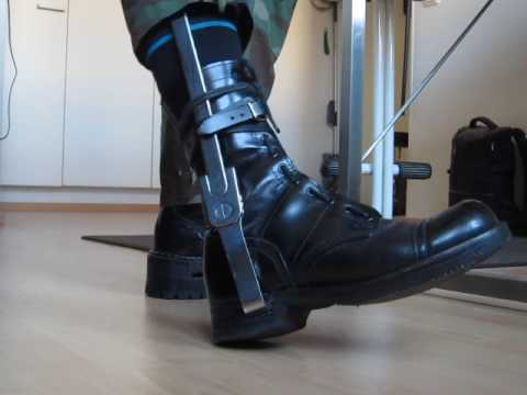 Kafo with ischial ring and built-up boot