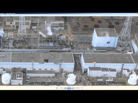 Aerial photos of Fukushima Daiichi nuclear power plant in Japan - HD