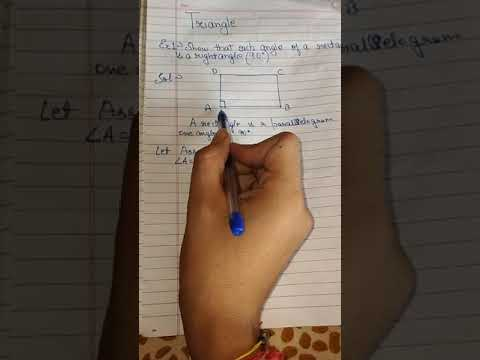 Show that each angle of a rectangle is a right angle class 9 EXAMPLE 1