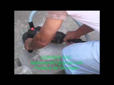 Pulidora de hormig n sin emisi n de polvo youtube for Pulidora de hormigon