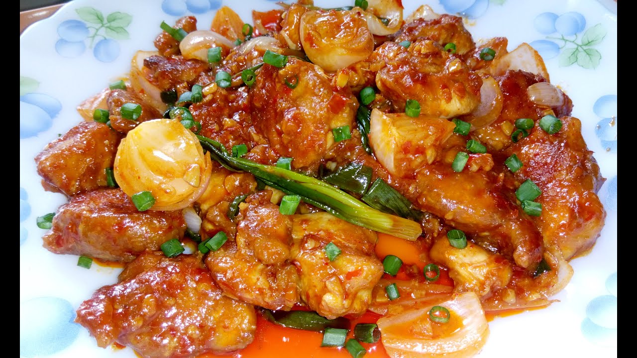 dry chilli chicken szechuan
