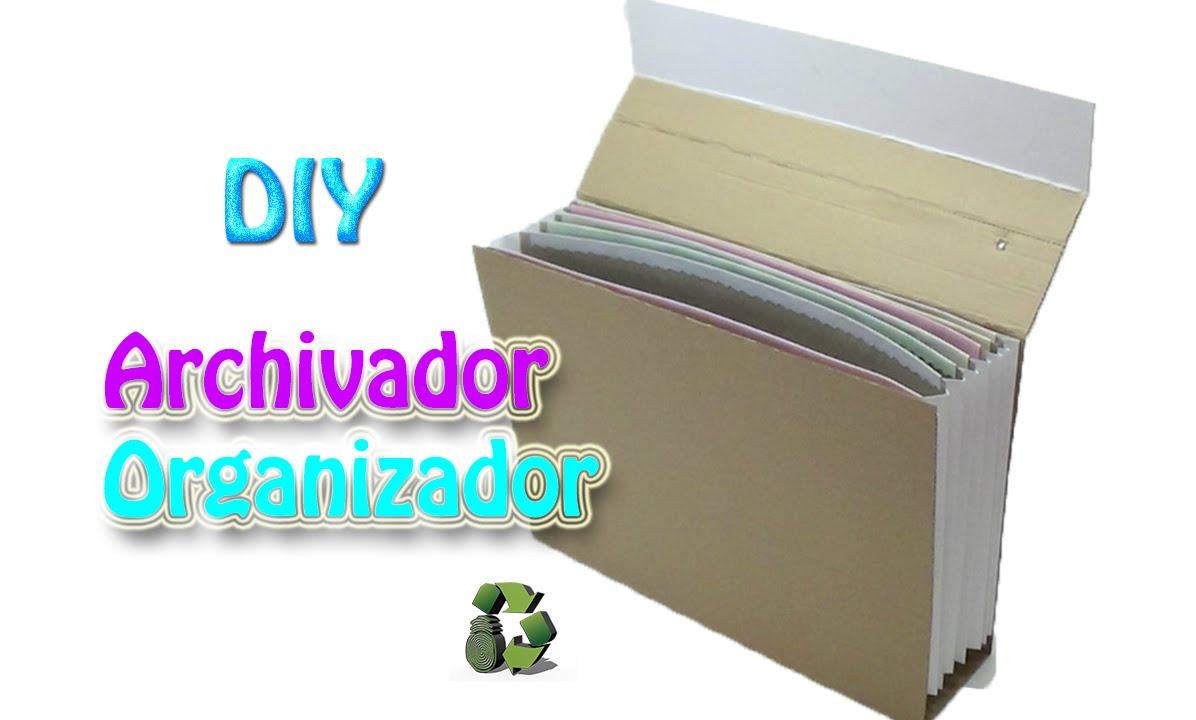 72 manualidades como hacer una archivador reciclaje - Como hacer una caja de carton ...
