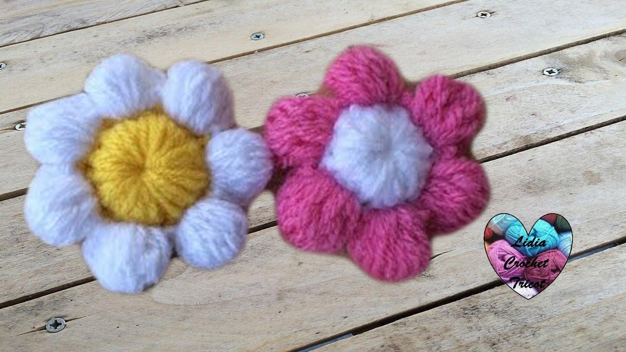 fleurs puff au crochet puff flowers crochet
