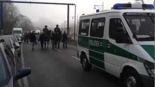 tibetische reiter in berlin am 23.11.2012