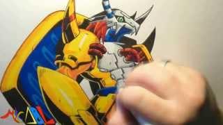 Dibujando a: Wargreymon (Digimon)