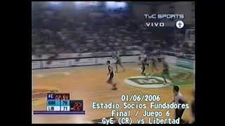 🏀 LNB Retro [01/06/2006]: Gimnasia (CR) Campeón De La LNB 2005/06. Últimos 3 Min. Y Festejos Finales