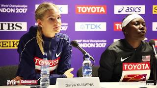 Darya Klishina Дарья Клишина 2017 8v IAAF World Championships London August 11th press conference 2