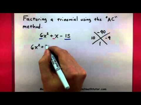 Algebra - Factor a trinomial using the AC method - YouTube