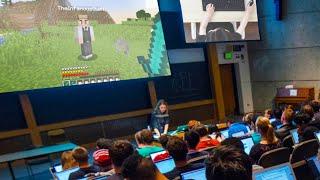 I Challenged my SCHOOL Teacher to 1v1 on Minecraft...