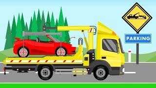 Tow Truck   Vehicles For Kids   Auto Laweta - Pomoc Drogowa Bajki i inne
