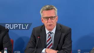 Germany: De Maiziere and CSU counterpart outline policies to tackle extremism