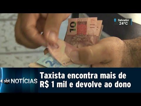 Taxista encontra mil reais na rua e decide procurar dono para devolver | SBT Notícias (21/07/18)