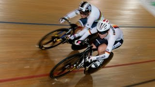 women s sprint gold final track cycling world cup cambridge new zealand