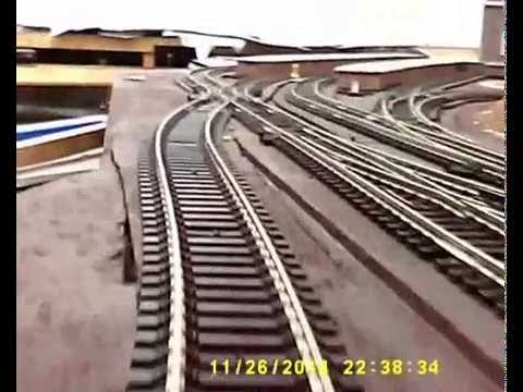 Brecon Station model railway layout testing – 26NOV14