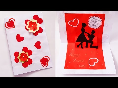 Valentines Day card | how to make Beautiful Handmade Propose day card