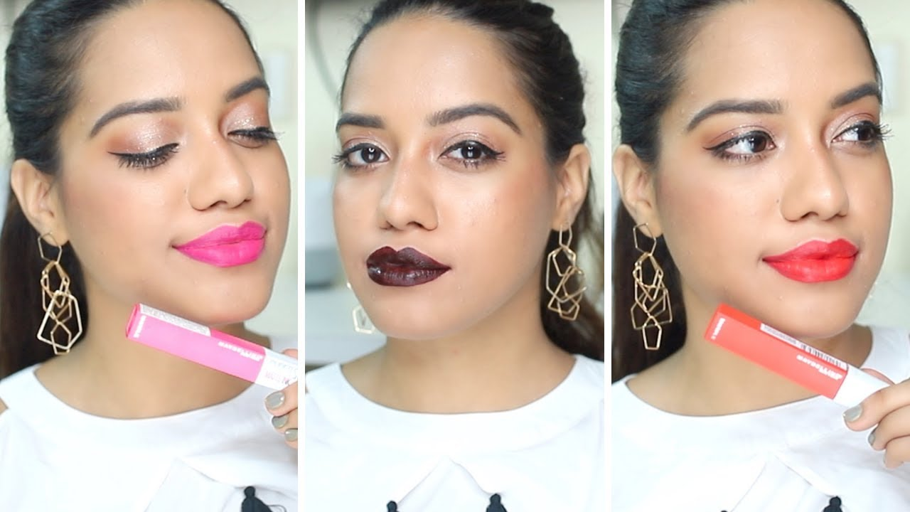 Maybelline Superstay Matte Ink Lipstick Review Swatches Debtember