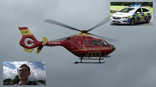 VLOG: Filming the Air Ambulance and several Police Cars in Malvern