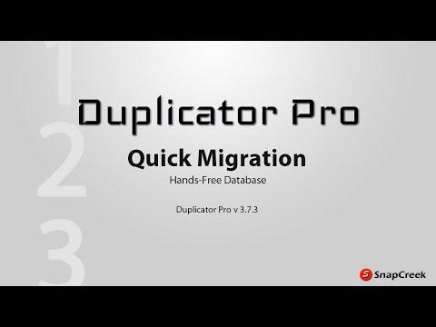 Duplicator Pro - Quick Overwrite Migration