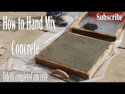 How to Hand Mix Concrete With Rock,Sand,Cement and Water! Custom mixtures & Finishes!
