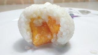 মেঙ্গো রাইস সুইট বল । Mango-Stuffed Sticky Rice ball | ভাতের ভিতর পাকা আমের বল