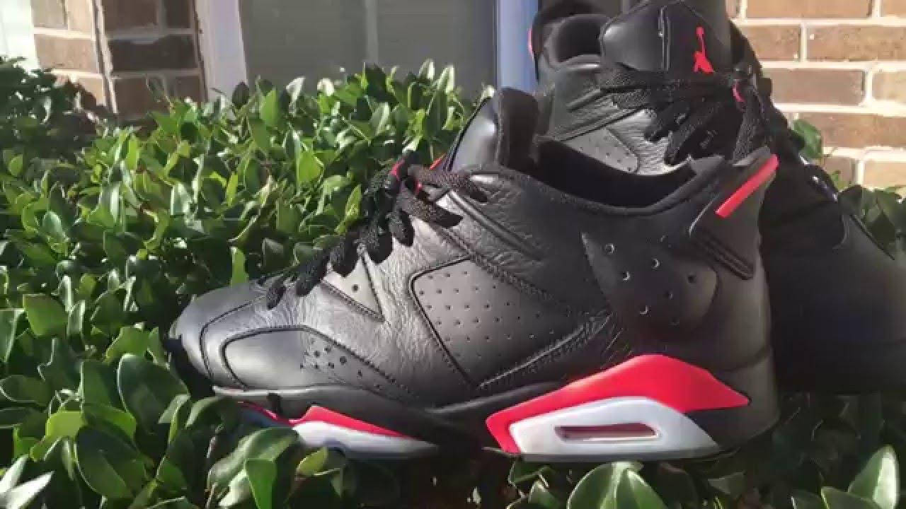 los angeles f490b 0ef8f Custom Air Jordan Retro 6 Low  Black Infrared  - YouTube