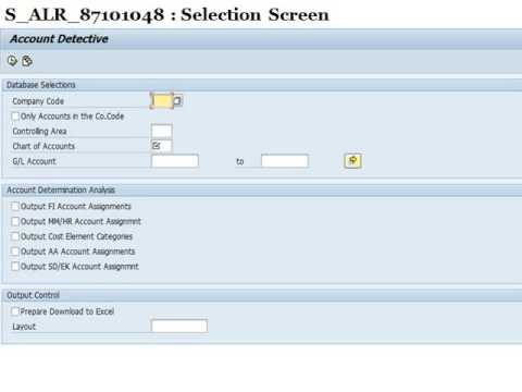 SAP Tips and Tricks FI Account Detective Report