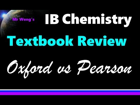 IB Chemistry Textbook Review Oxford Vs Pearson