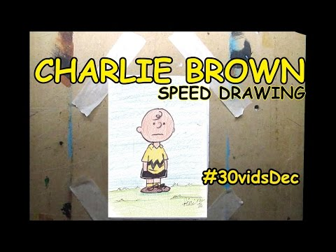 CHARLIE BROWN (Peanuts) -speed drawing #30vidsdec