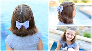 Laced Fishtail Tieback & Surprise Visitor   Short Hairstyles