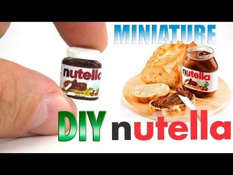 DIY Nutella Hazelnut Spread | DollHouse food, accessories and Toys for Barbie