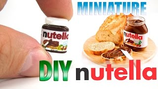 DIY Nutella Hazelnut Spread | DollHouse food, accessories and Toys for Barbie