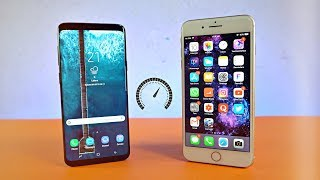 Samsung Galaxy S9 Plus vs iPhone 8 Plus - Speed Test! (4K)