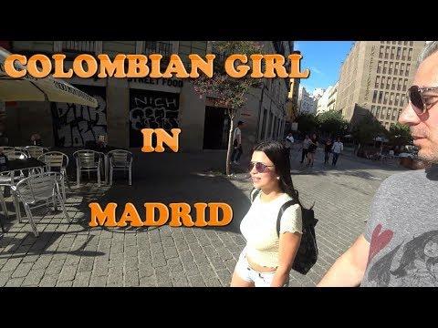 Colombian Girl in Madrid
