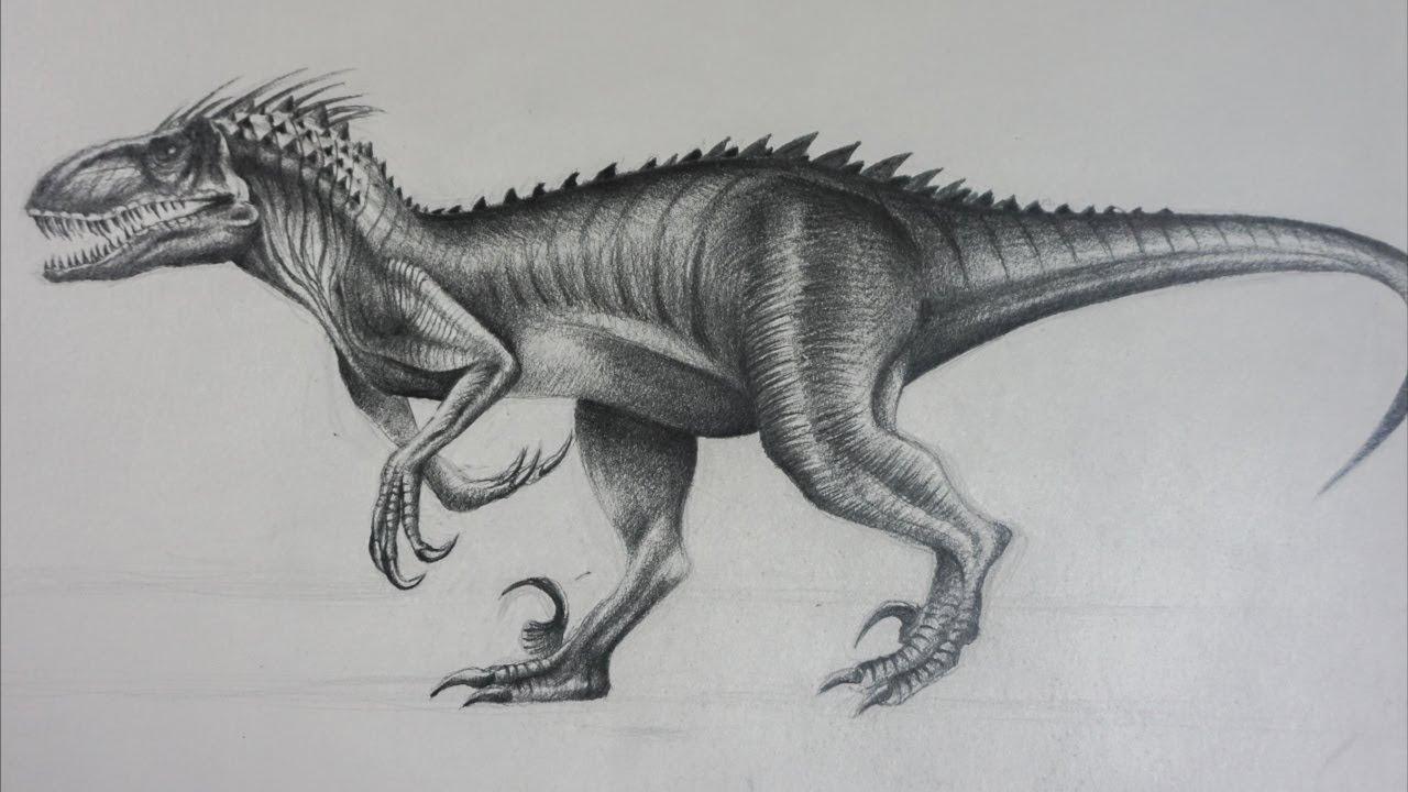 Indoraptor De Jurassic World 2 Dibujo A Lapiz Youtube 8.5 x 11 pulgadas impreso en papel fotográfico brillante de primera calidad. indoraptor de jurassic world 2 dibujo a lapiz