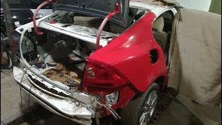 Volvo S60.Удар в зад.Кузовной ремонт.Часть3