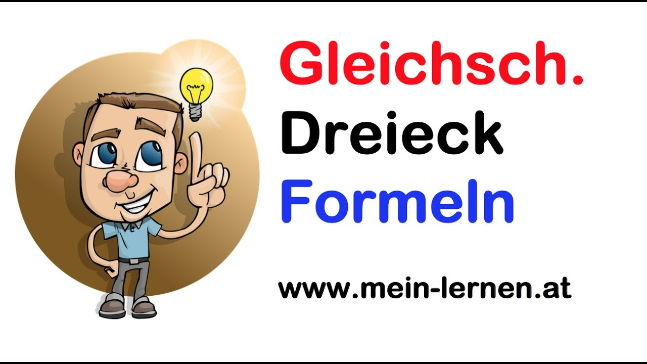 gleichschenkliges dreieck formeln youtube. Black Bedroom Furniture Sets. Home Design Ideas