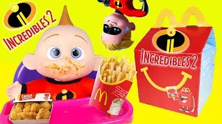 McDonalds Happy Meal Toy Challenge with Incredibles 2 Baby Jack Jack - Ellie Sparkles