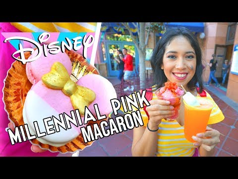 Millennial Pink Minnie Mouse Macaron and Tasty Frozen Treats | Disneyland Resort