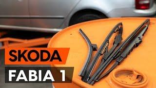 Como mudar Escovas do limpa parabrisas SKODA FABIA Combi (6Y5) - tutoriais