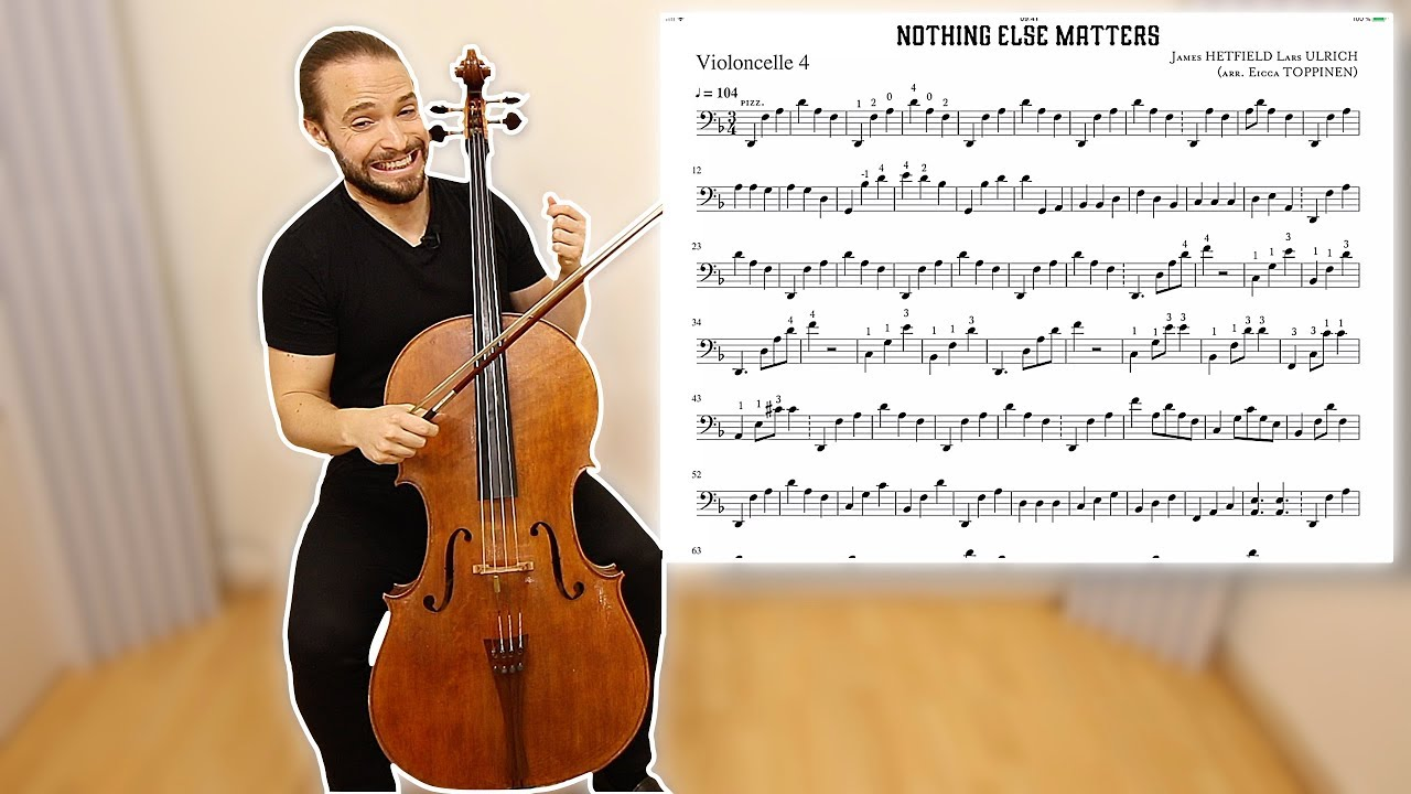 How To Play Nothing Else Matters Apocalyptica On Cello Lesson Part 3 Metal On Cello Youtube