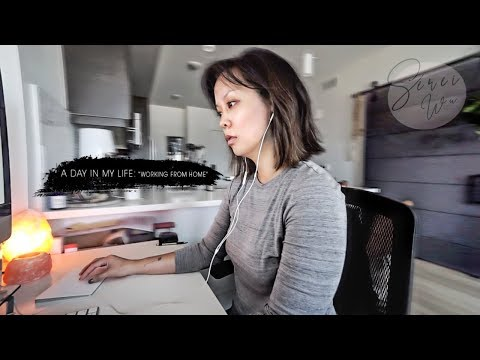 VLOG #27   DAY IN MY LIFE WORKING FROM HOME