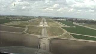 Cessna 182 landing at Visalia, California