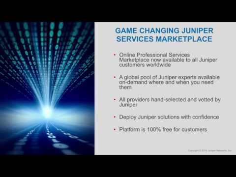 Juniper Professional Services Marketplace Overview for Customers