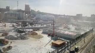 Пожарные и скорая на Центральном стадионе