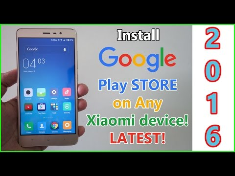 Install google play store on any Xiaomi Device with MIUI 7! Works on marshmallow!