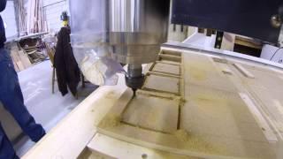 Jinan Itech 1224 Cnc Machine Cutting A Wine Rack Frame