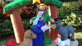 25 Days Of Christmas   Day 1   Inflatable Christmas Nativity Scene