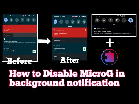 How to remove MicroG in background notification | Battery optimization for YouTube vanced and MicroG