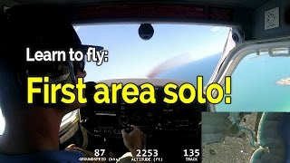 RECREATIONAL PILOT CERTIFICATE:  Flying Lesson #15  Area Solo | Audio